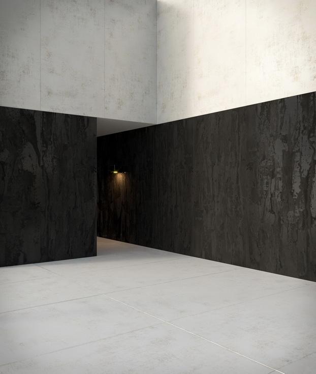 עיצוב לובי בניין - חיפוי משטח דקטון לקירות