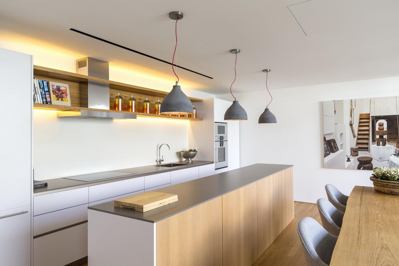מטבח מודרני עם משטח נאוליט
